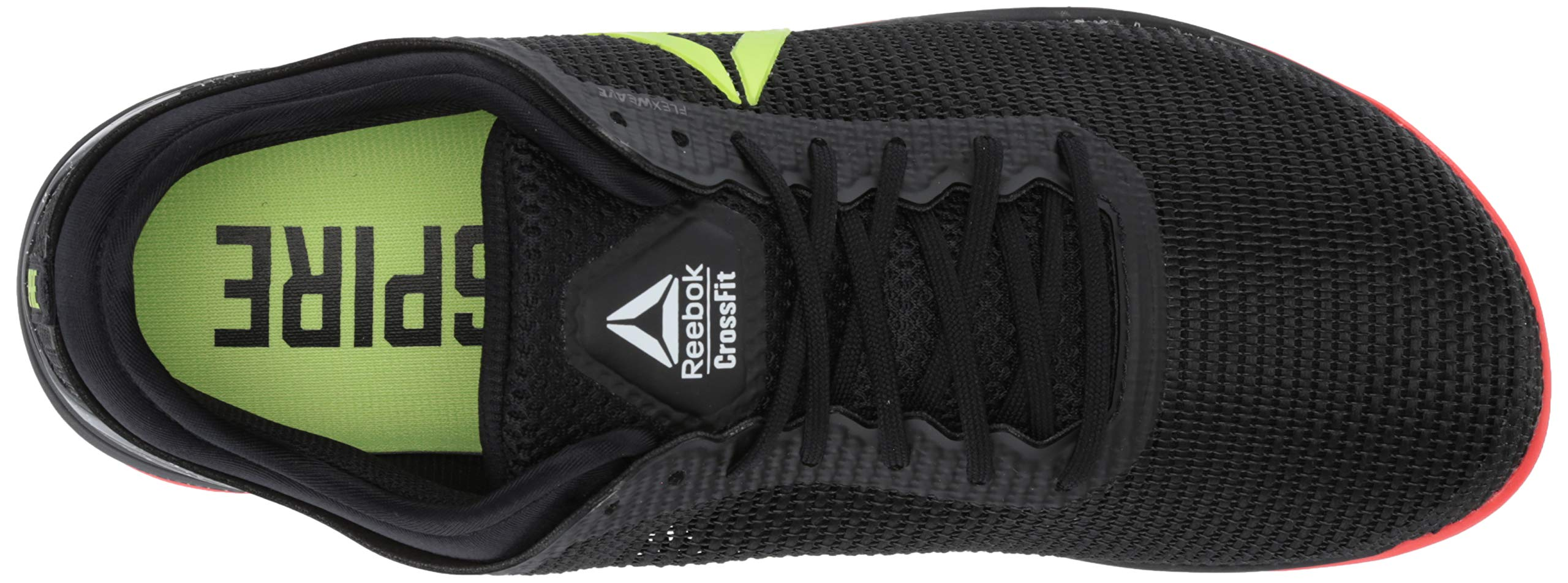Reebok Men's CROSSFIT Nano 8.0 Flexweave Cross Trainer, Black/Neon Red/Neon Lime/White, 6.5 M US by Reebok (Image #12)