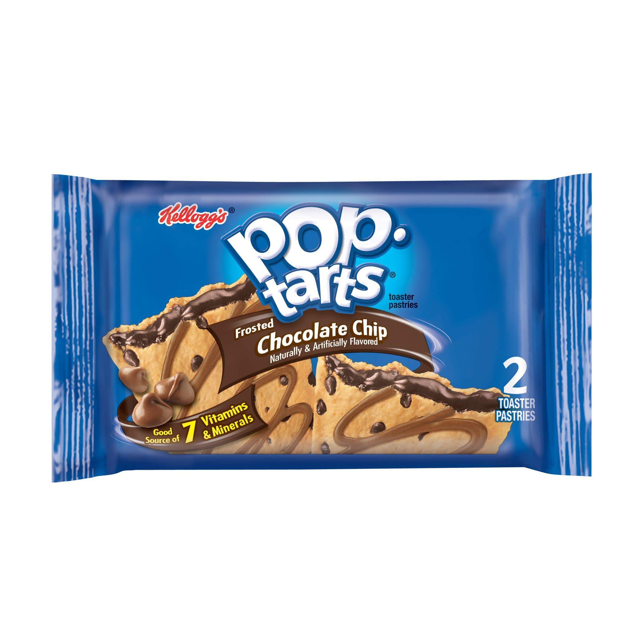 Kellogg's Pop-Tarts, Chocolate Chip, 3.67 Ounce (Pack of 72)