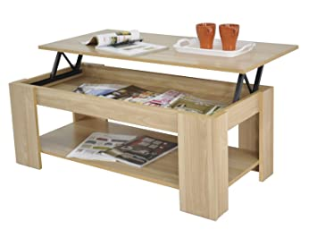 Right Deals Uk Kimberly Lift Up Top Coffee Table Storage Shelf Choice Colour