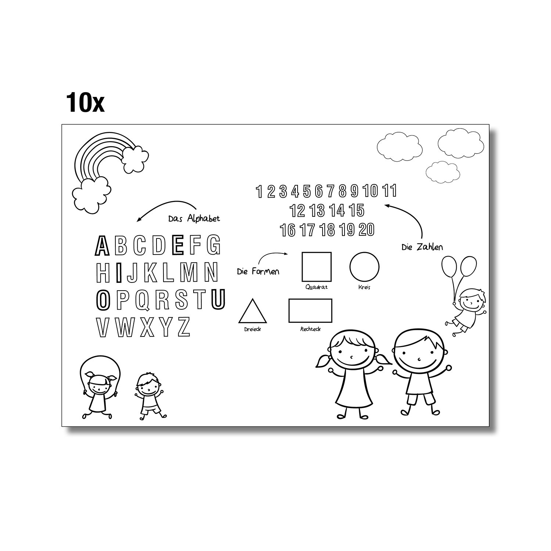 DIN A3 Mal-Vorlagen für Kinder I dv_103 I Set mit 30 Blatt I 3 ...