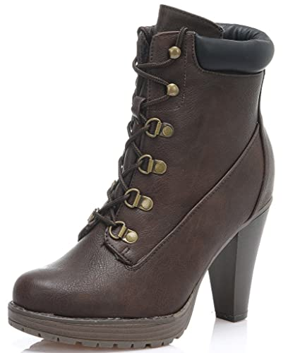 Amazon.com | DREAM PAIRS Women's Fashion Ankle Lace Up Fur ...