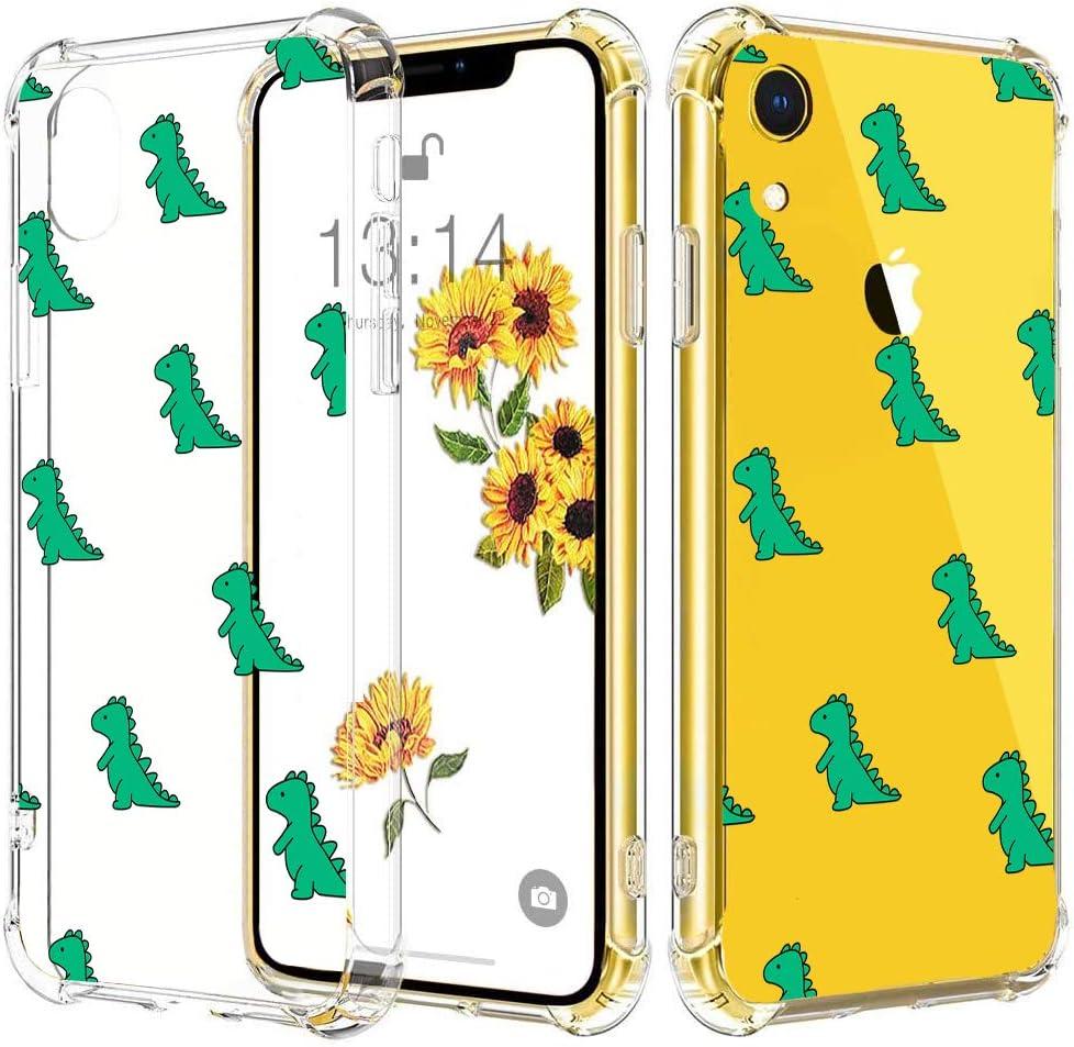 JOYLAND Dinosaur Dino Case for iPhone 7 Plus/8 Plus Dinosaur Phone Case Crystal Clear Flexible Case Reinforced Corner Bumper Transparent Anti-Scratch Full Cover Shell for iPhone 7 Plus/8 Plus