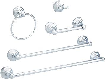 Amazon.com: AmazonBasics Juego de accesorios para baño , AB ...