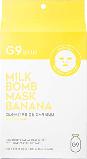 G9skin Banana Milk Bomb Mask, 5 Sheets, 21 ml Each