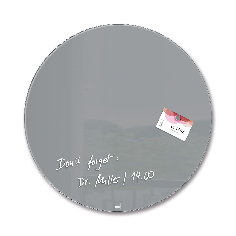Sigel GL290 Glas-Magnetboard   Magnettafel artverum Grau, Kreis Ø 40 cm - weitere Farben Form