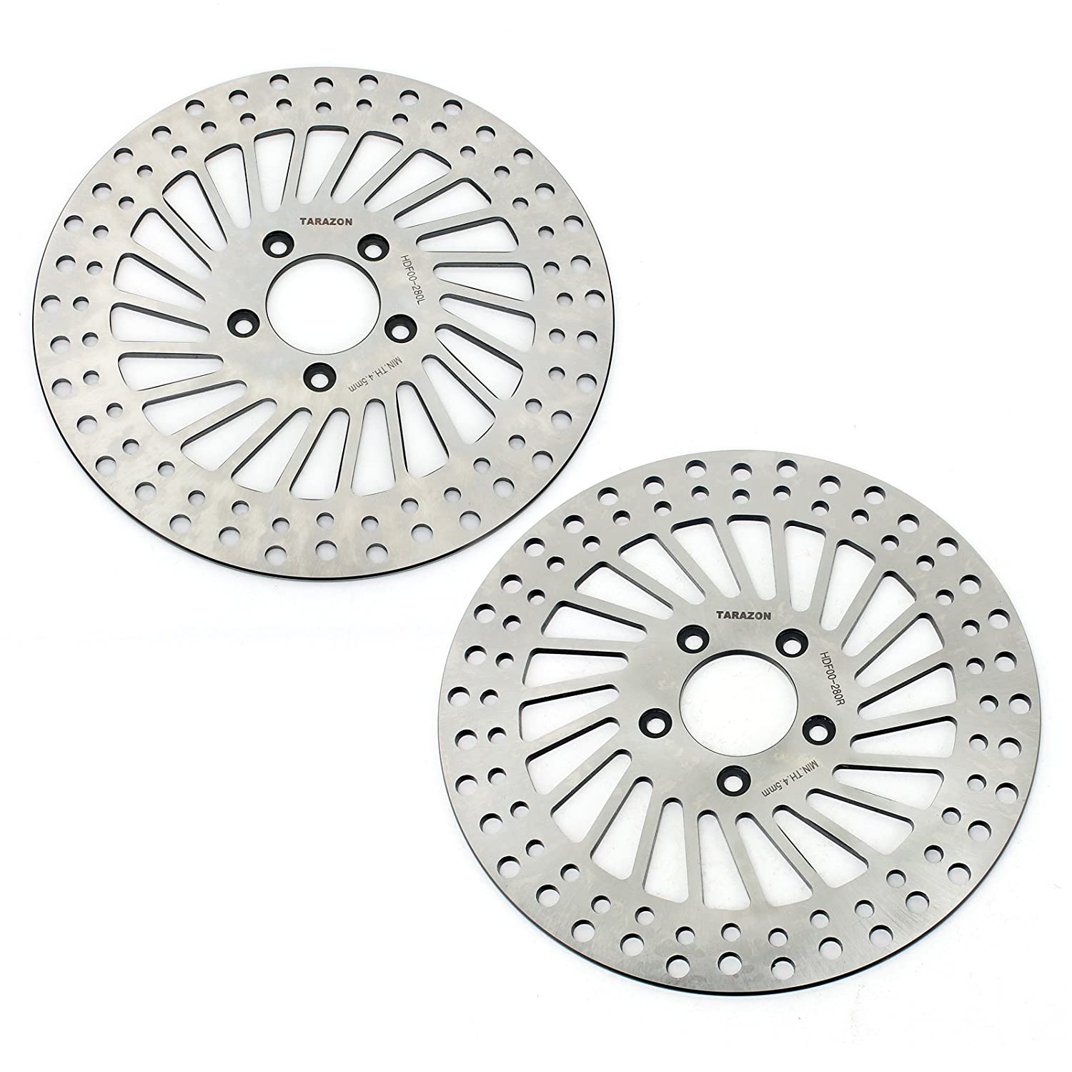 TARAZON 2pcs Front Brake Rotors for Harley Davidson Touring Bike Electra Glide Road King Road Glide Ultra Electra Glide 2000-2007