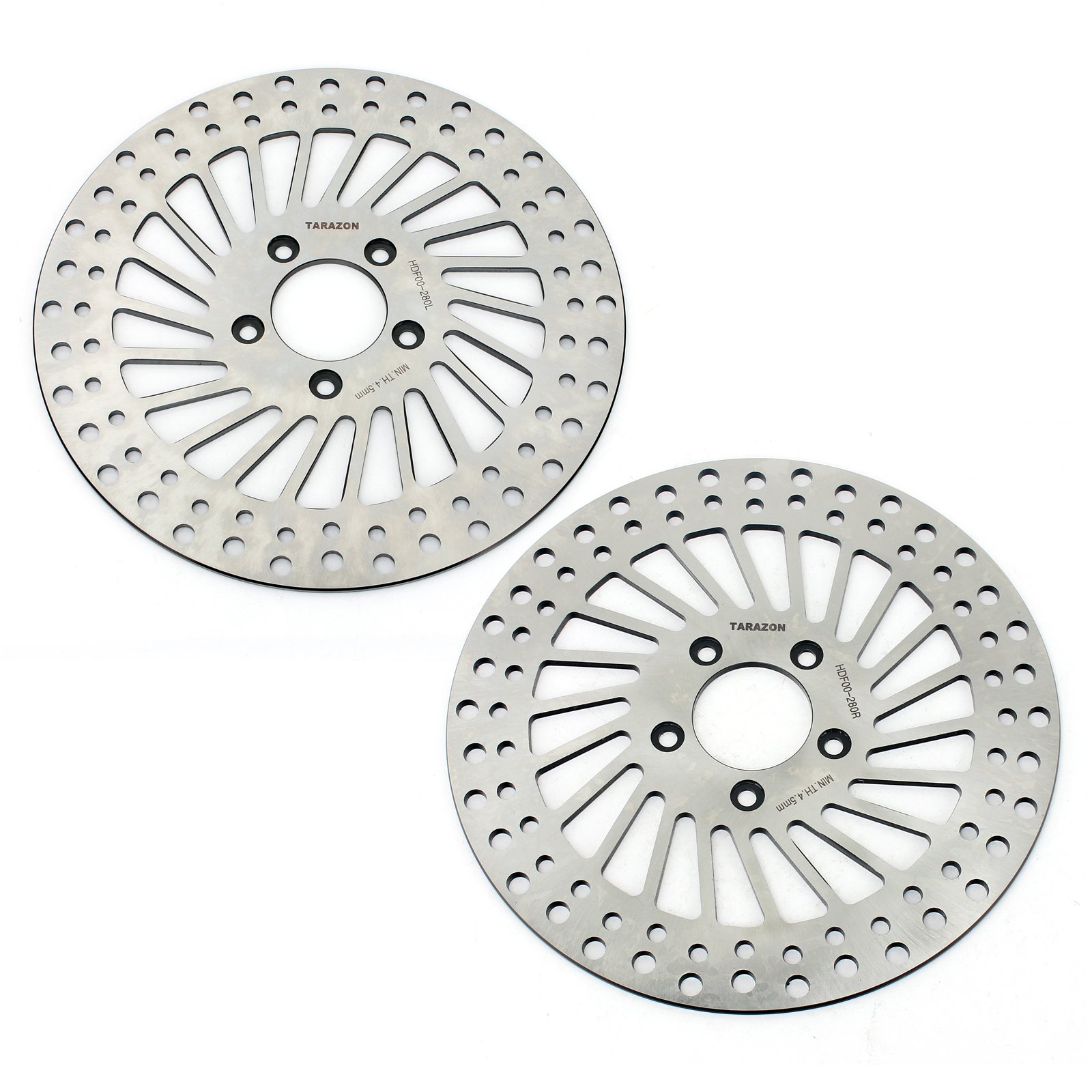 TARAZON 2pcs Front Brake Rotors for Harley Davidson Touring Bike Electra Glide Road King Road Glide Ultra Electra Glide 2000-2007 by TARAZON