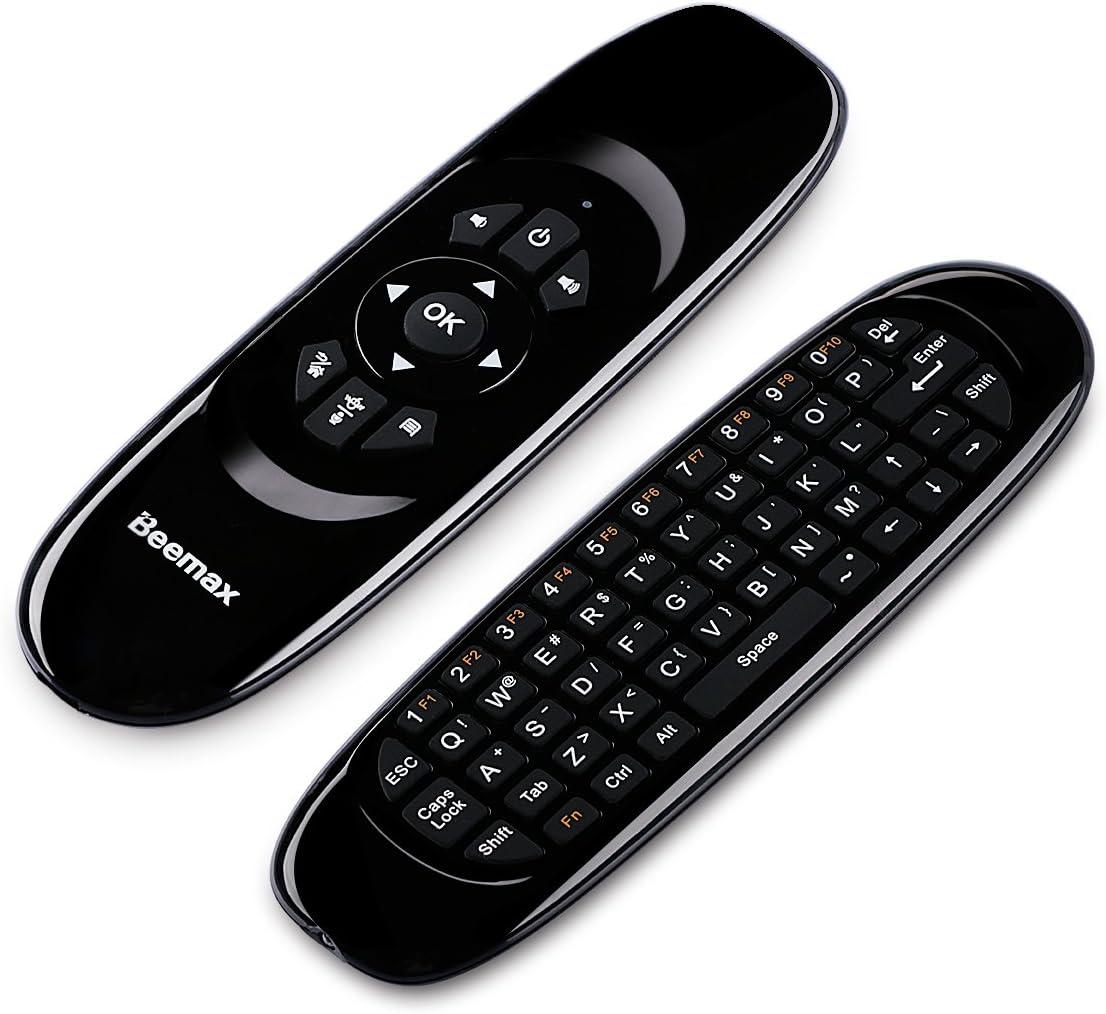 Beemax C120 Pro 2.4 G Mini Voz Teclado Remoto inalámbrico Mouse con 3-Gyro 3-Gravity Sensor para PC HTPC IPTV Smart TV y Android TV Box Media Player (versión actualizada): Amazon.es: Electrónica