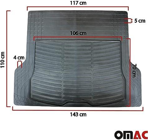 OMAC GmbH Tapis de Coffre en Caoutchouc antid/érapant pour Zoe Noir