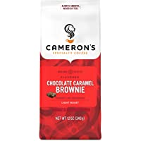 Cameron's Coffee Roasted Ground Coffee Bag, Flavored, Chocolate Caramel Brownie, 12 Ounce (Pack of 3)