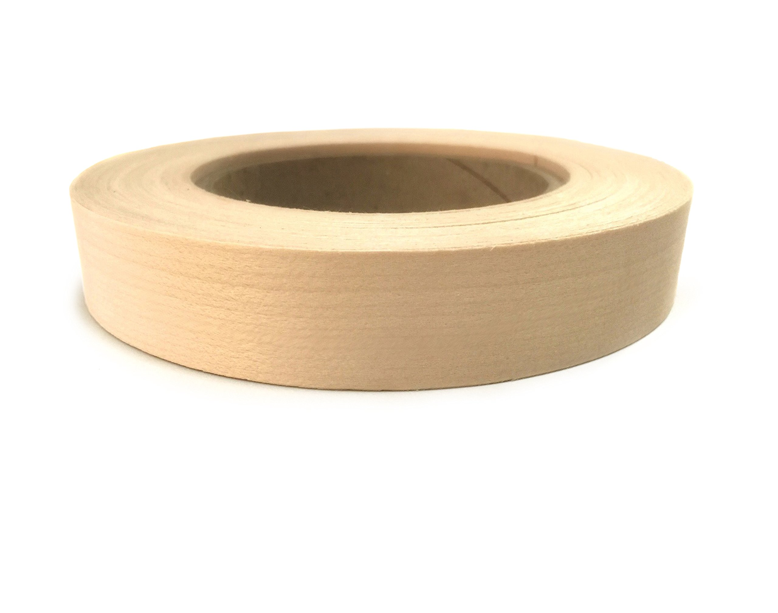 Maple Preglued 1 1/8'' X 50' Wood Veneer Edgebanding.. Easy Application Iron On with Hot Melt Adhesive. Smooth Sanded Finish. Flexible Edging. Made in USA. by Edge Supply
