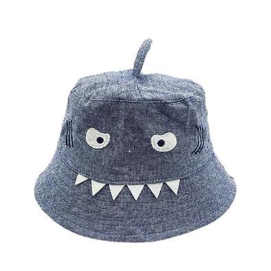 b20bc2ff881 order anglewolf toddler baby kids boys and girls hat children cartoon shark  print autumn cap bucket