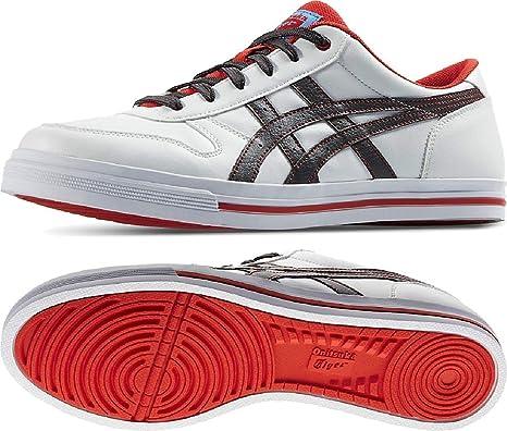 Scarpe Unisex Bianco/Grigio/Rosso Asics Tiger Sneakers Unisex White/Grey/Red