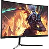 "FIODIO 27"" Curved 75Hz LED Monitor Full HD 1080P HDMI VGA Ports with Speakers, VESA Wall Mount Ready 2020 (HDMI Cable Include"