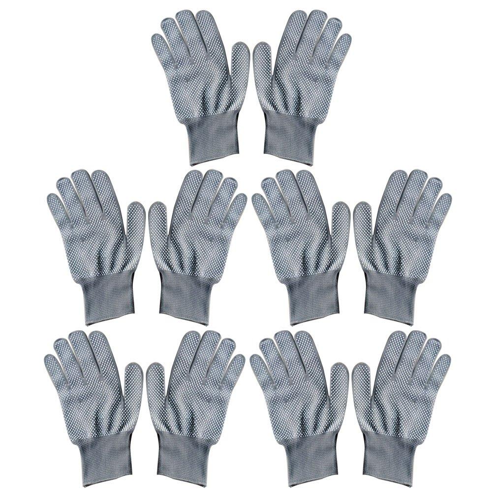 Vococal -5 Paio Unisex Resistente al Calore Calore Blocco Glove per Curling Ferro da Stiro Curling Wand Stile di Capelli Nero