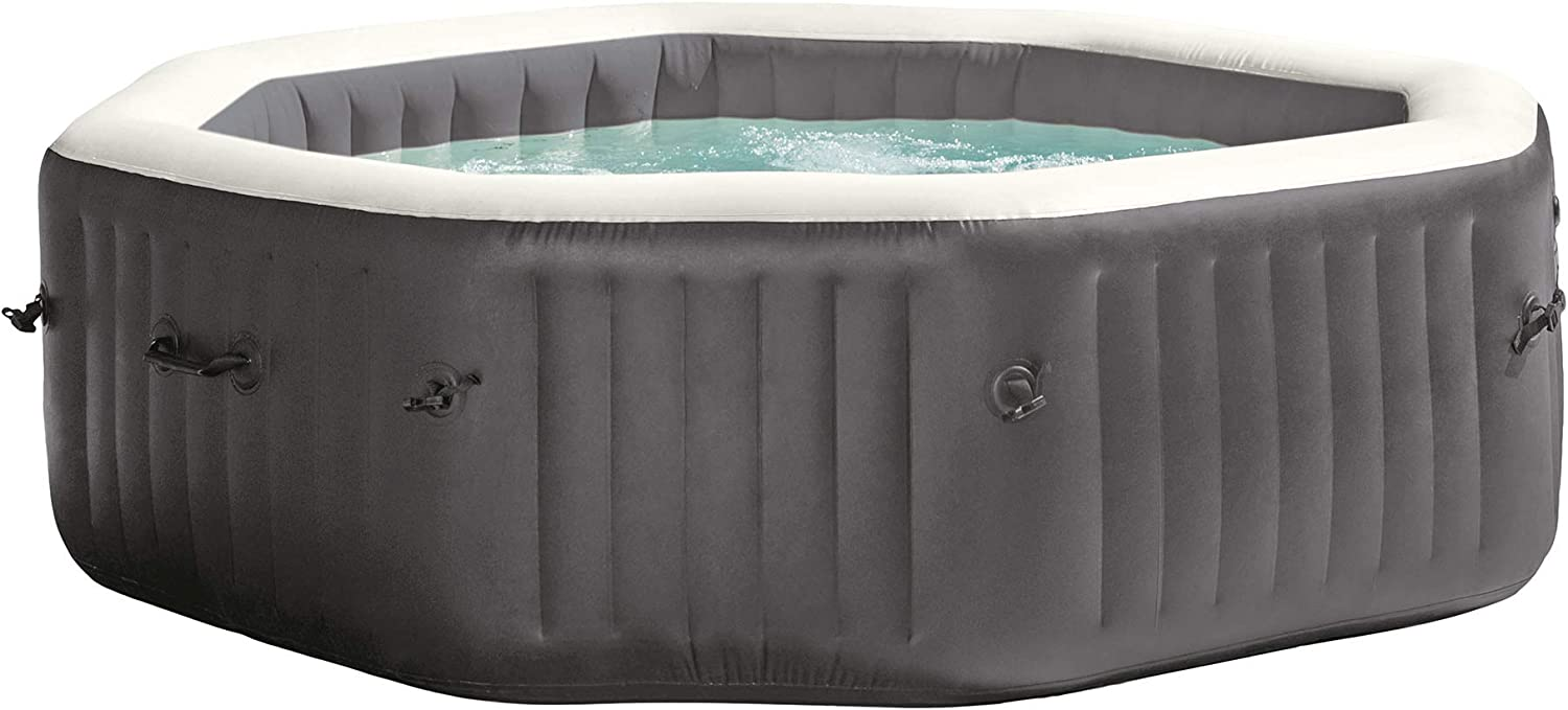 Intex 28417WL PureSpa 6 Person Fiber-Tech Construction