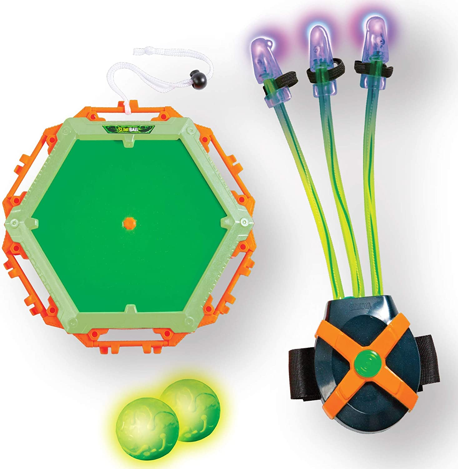Amazon Com Diggin Slimeball Light Claw Glow Target Wearable Blacklight Glove With Sticky Slime Target Glow Balls Toys Games