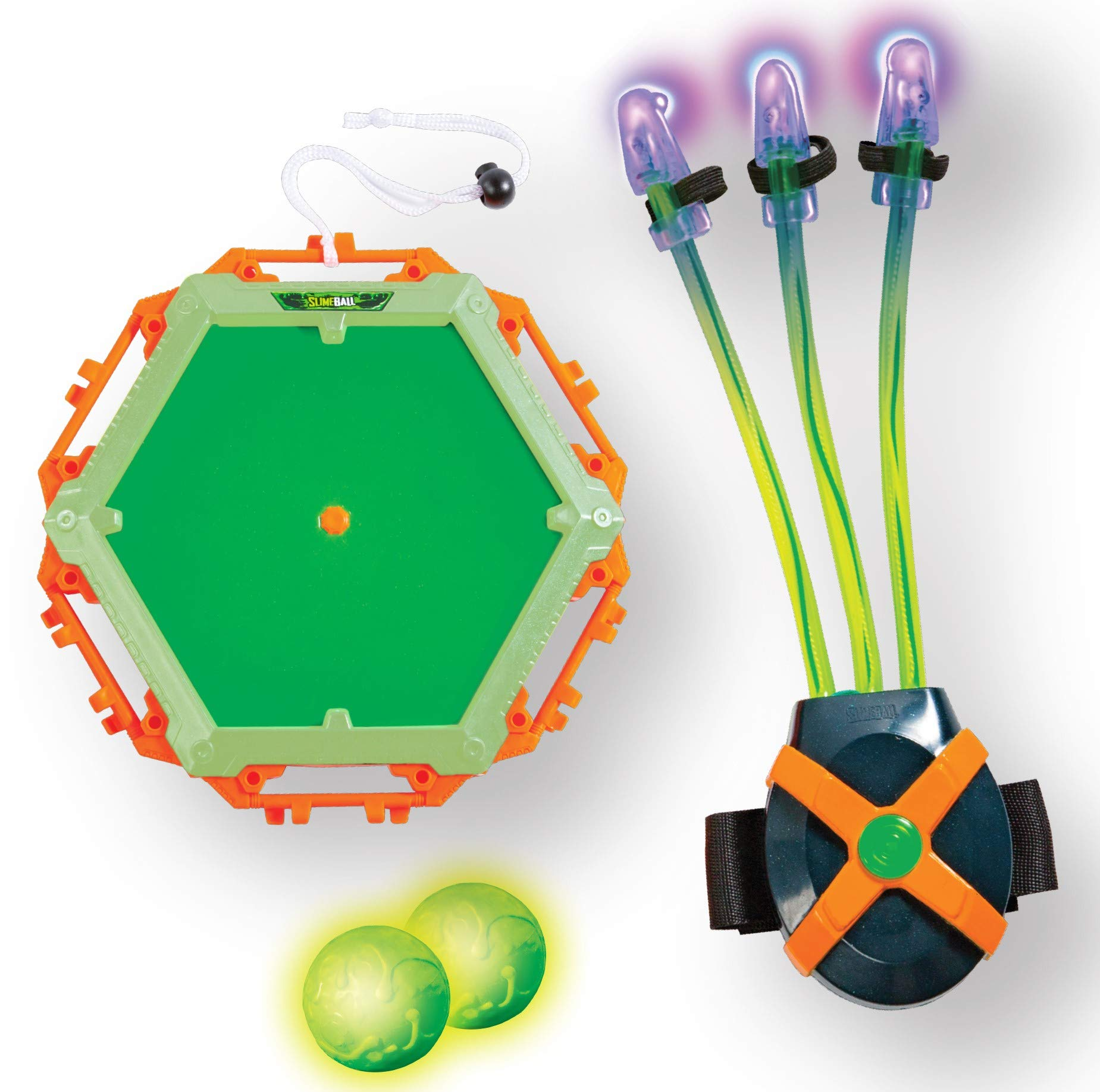 Diggin Slimeball Light Claw & Glow Target - Wearable Blacklight Glove with Sticky Slime Target & Glow Balls