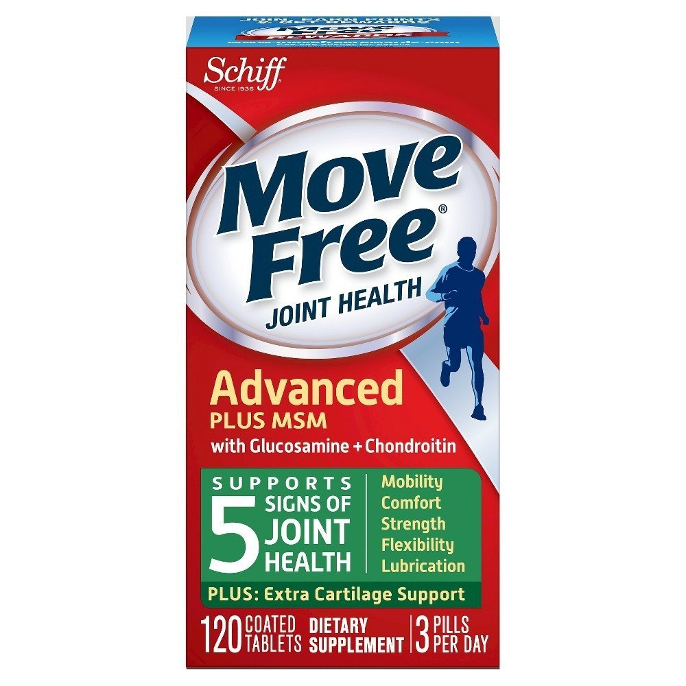 Move Free Joint Health Tablets with Glucosamine + Chondroitin, 120 Count Per Bottle (6 Bottles)