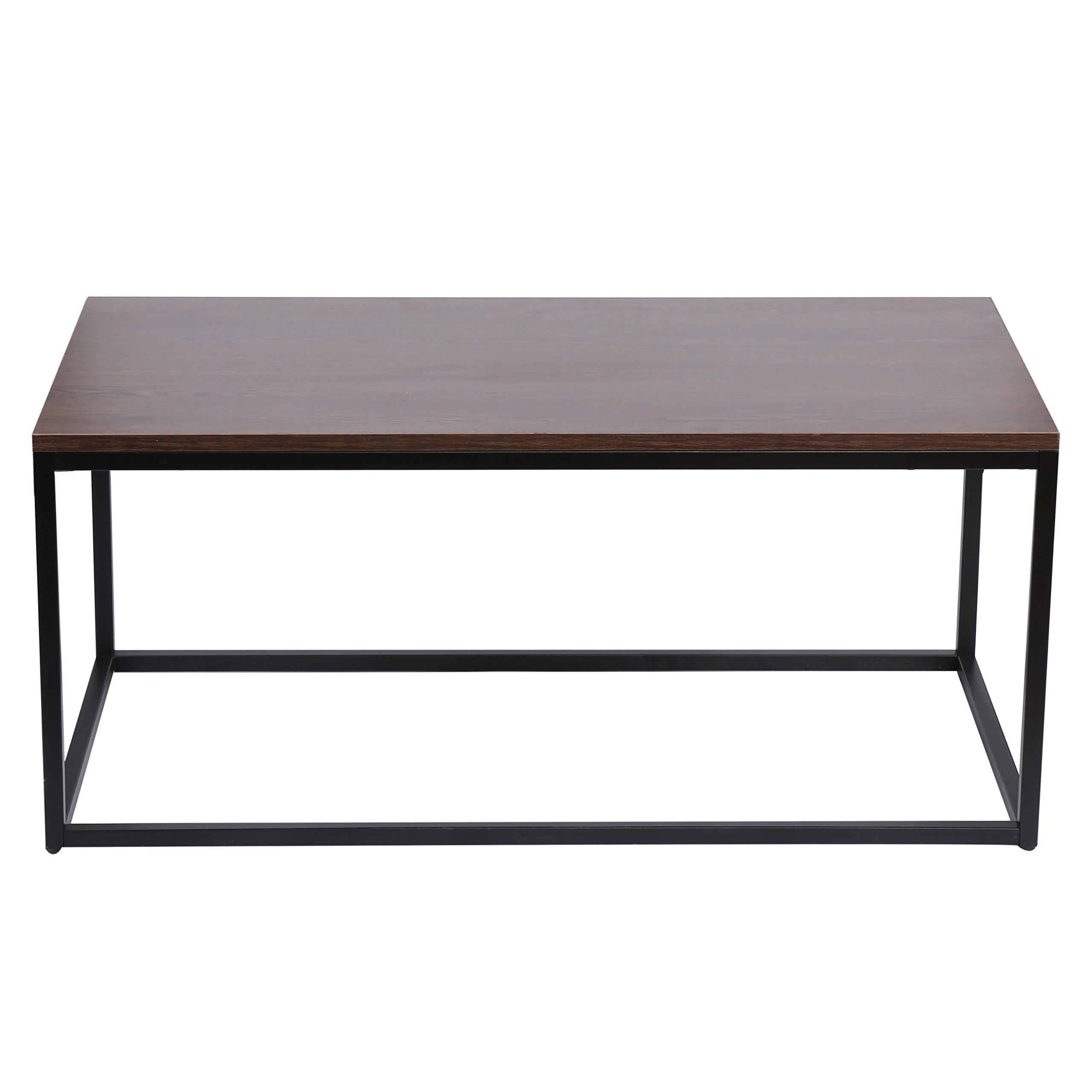 KELLIGO Coffee End Side Table For Living Room Classic Modern Rectangular (brown)