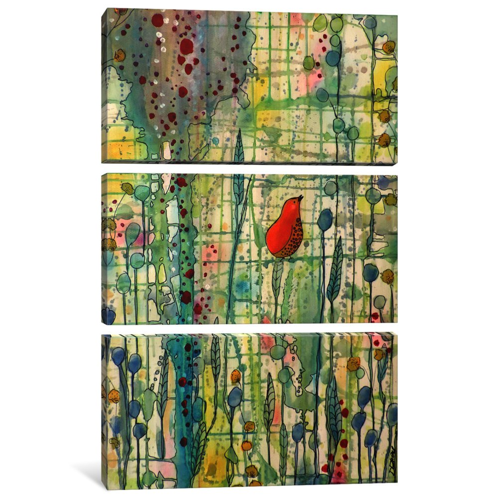 60 x 40 x 0.75-Inch iCanvasART 3 Piece Alpha Canvas Print by Sylvie Demers