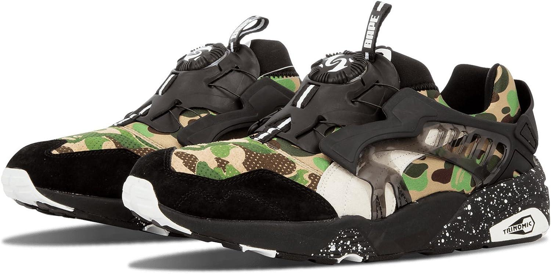 Puma Disc Blaze X Bape Baskets Motif camouflage vert