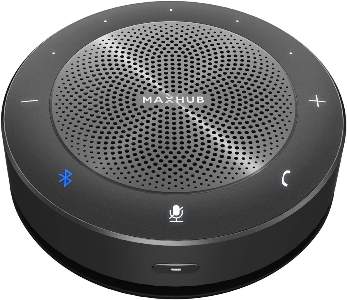 Altavoz-Bluetooth-para-conferencias– Altavoces Maxhub con algoritmo de reducción de Ruido Mejorado del micrófono, Pastilla de Voz de 360°³