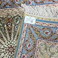 Yuchen New 2'x3' Top Floral Pattern Persian Oriental Hand Knotted Carpets Handmade Silk Rug