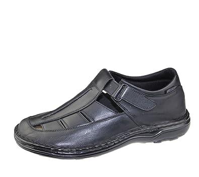 Damen Schuhe Sandalen Leder Klettverschluszlig;38 EUWei?