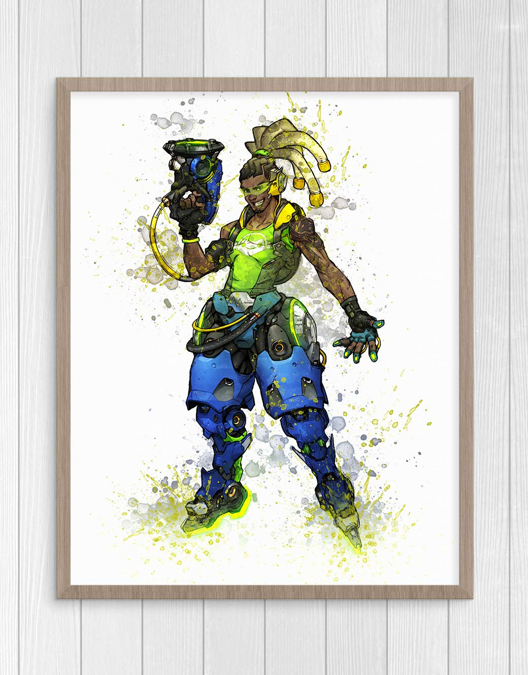 Overwatch Print, Lucio Print, Overwatch Poster, Lucio Poster, Game Poster, Blizzard N.007 (16 x 20 inch)