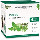 Nature's Blossom Kitchen Herb Garden Indoor Seed Starter Kit. Grow 4 Different Herbs from Seeds at Home. Gardening Gifts for
