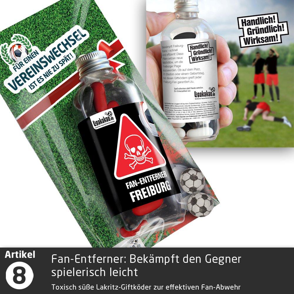 """Beruhigungs-Z/äpfchen/® f/ür Freiburg-Fans Lakritz-Z/äpfchen f/ür SCF-Fans zur Einnahme bei Niederlagen W/ähle unsere verr/ückten M/änner Geschenk-Sets /über /""""Farbe/"""" aus Gegentoren /& Abstiegsangst"""