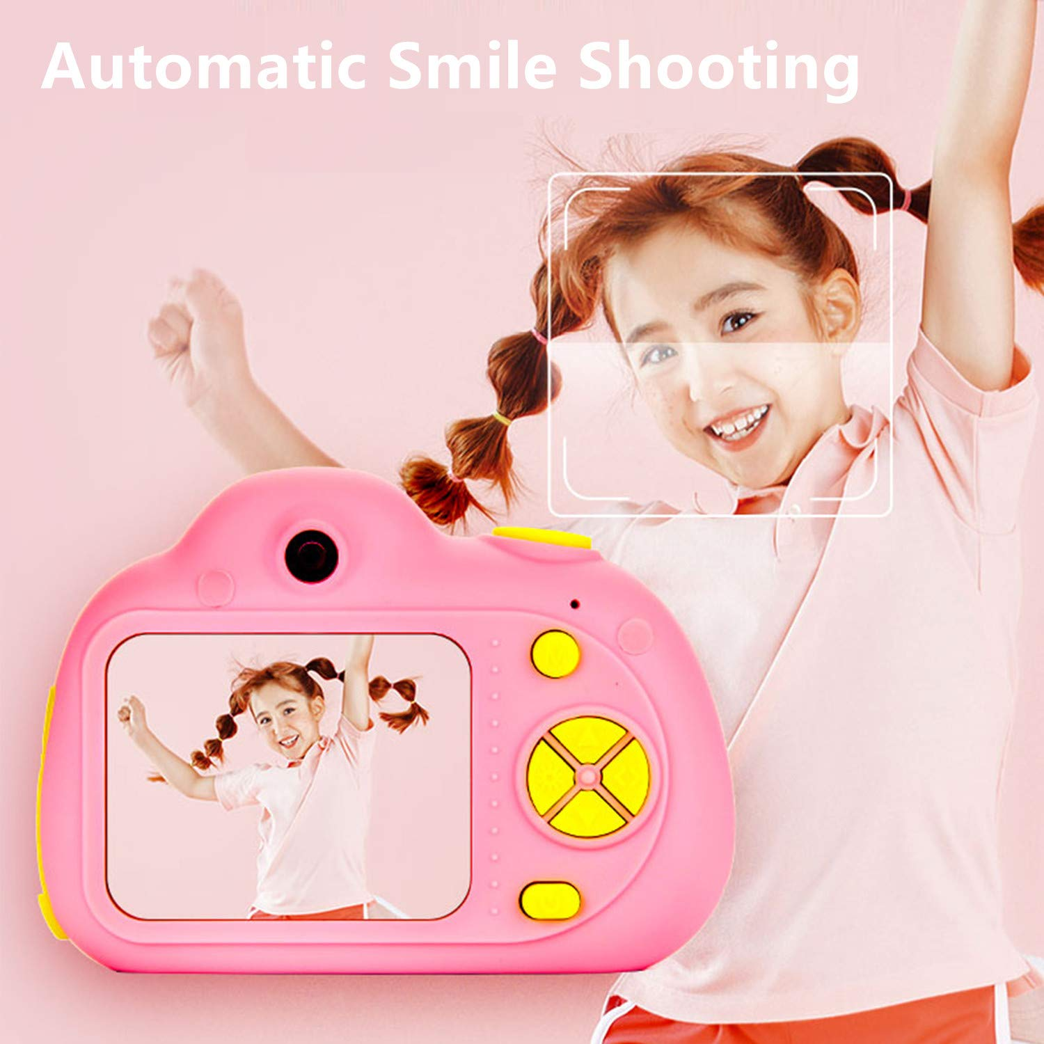 ESROVER Kids Digital Camera,2.0 Inch Screen 8MP Dual Shockproof Cameras Toys with Silicone Soft Cover Best Gifts Mini Selfie Camcorder for 4-8 Year Old Girls Boys Children by ESROVER (Image #6)