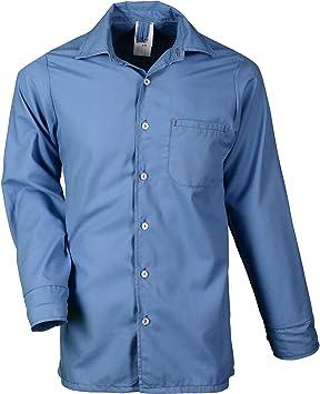 Asatex valhe01en 45 Protección Ignífuga de camisas de viscosa/aramida, Azul Claro/Color mezclado, 45