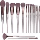 BS-MALL Makeup Brush Set 15pcs Makeup Brushes Premium Synthetic Bristles Powder Foundation Blush Contour Concealers Lip Eyesh