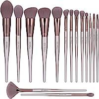 BS-MALL Makeup Brush Set 15pcs Makeup Brushes Premium Synthetic Bristles Powder Foundation Blush Contour Concealers Lip…