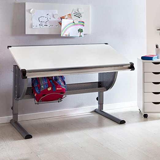 KS-Furniture - Escritorio Infantil de Madera (120 x 60 cm, Altura ...