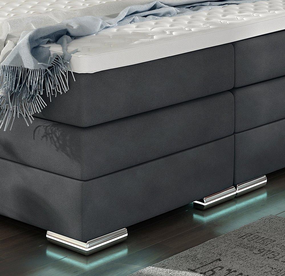 Xxl Roma Boxspringbett Mit Bettkasten Designer Boxspring Bett Led