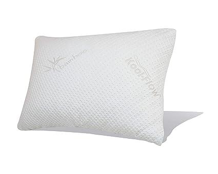 snuggle-pedic ultra-Luxury bambú triturada de espuma con efecto memoria almohada combinación |