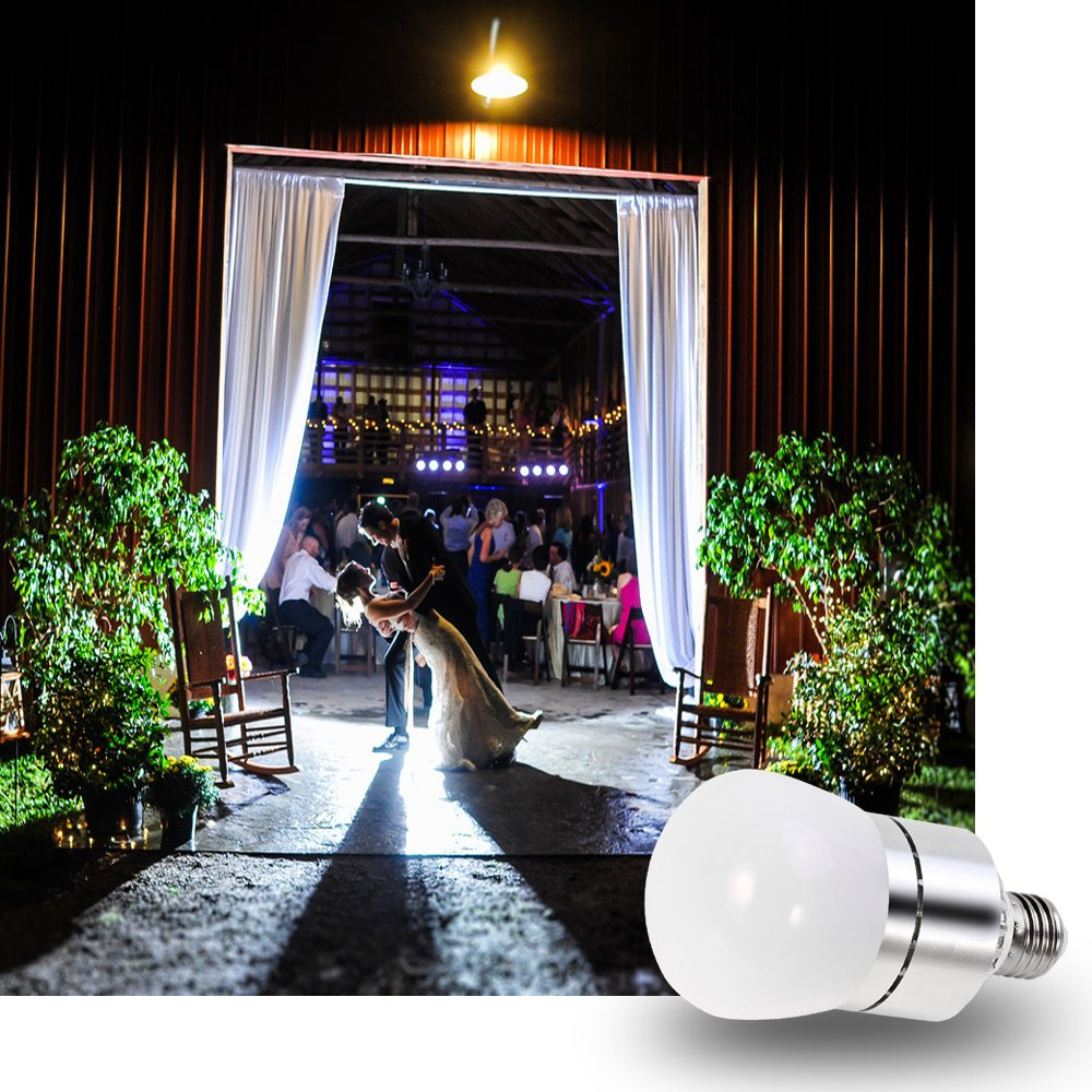 LED Light Bulbs Dusk to Dawn Sensor Lights Bulb Smart Lighting Lamp 12W 1200LM E26/E27 Socket 3200k Auto On/Off Indoor Outdoor Security Light for Porch, Garage, Driveway, Yard, Patio (Warm White) by Vgogfly (Image #8)