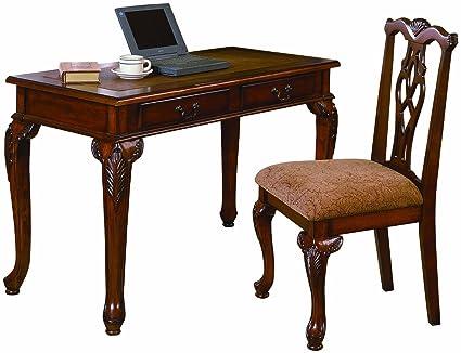 amazon com acme furniture 2pc home office writing desk side chair rh amazon com queen anne writing desk and chair set howard writing desk and chair set