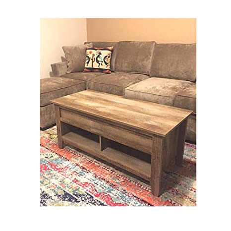 Surprising Amazon Com Vintage Coffee Table With Storage Industrial Big Gmtry Best Dining Table And Chair Ideas Images Gmtryco