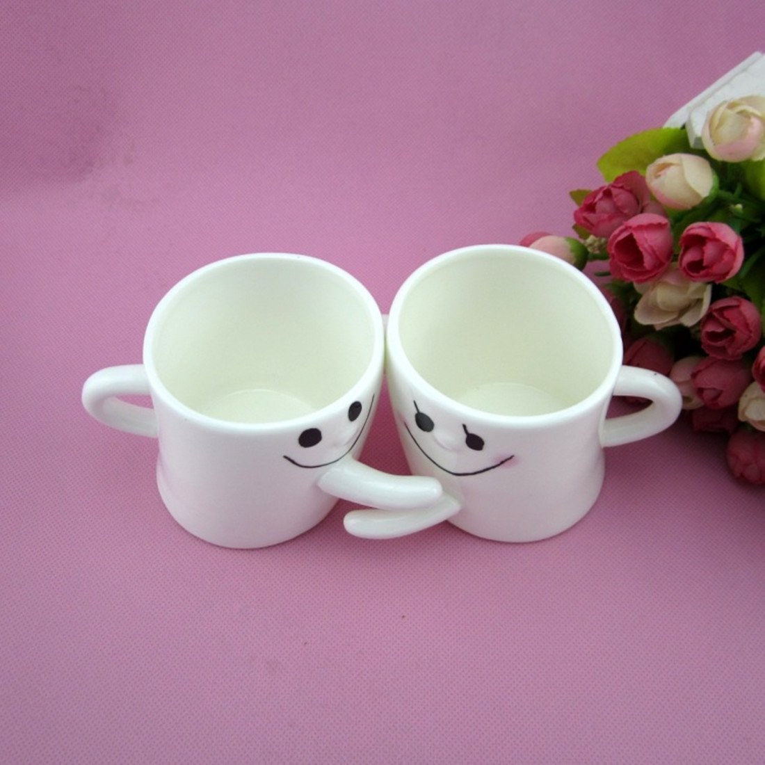 Amazon.com   Lovely 2 Pcs Couple Matching Mug for Coffee Water Juice ...