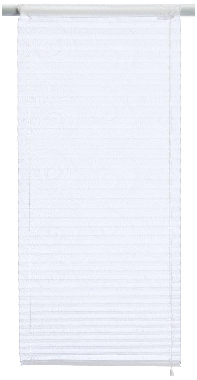 Home fashion 78904-601 - Tenda a pacchetto plissettata in voile stampato, 140 x 45 cm