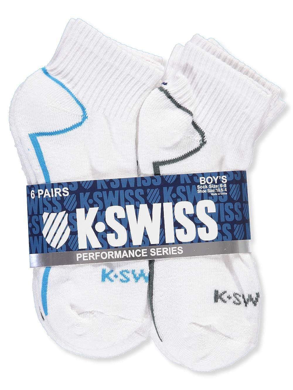 K-Swiss Boys 6-Pack Quarter Socks