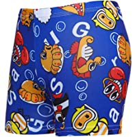 SYGA 1 Piece Boys Swimming Trunks Cartoon Printed Swimming Shorts (Colors & Design May Vary)
