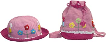 ee695f0c08b snuggleheads Girls  Flower Garden Bucket Hat and Backpack Set 2-5 Year