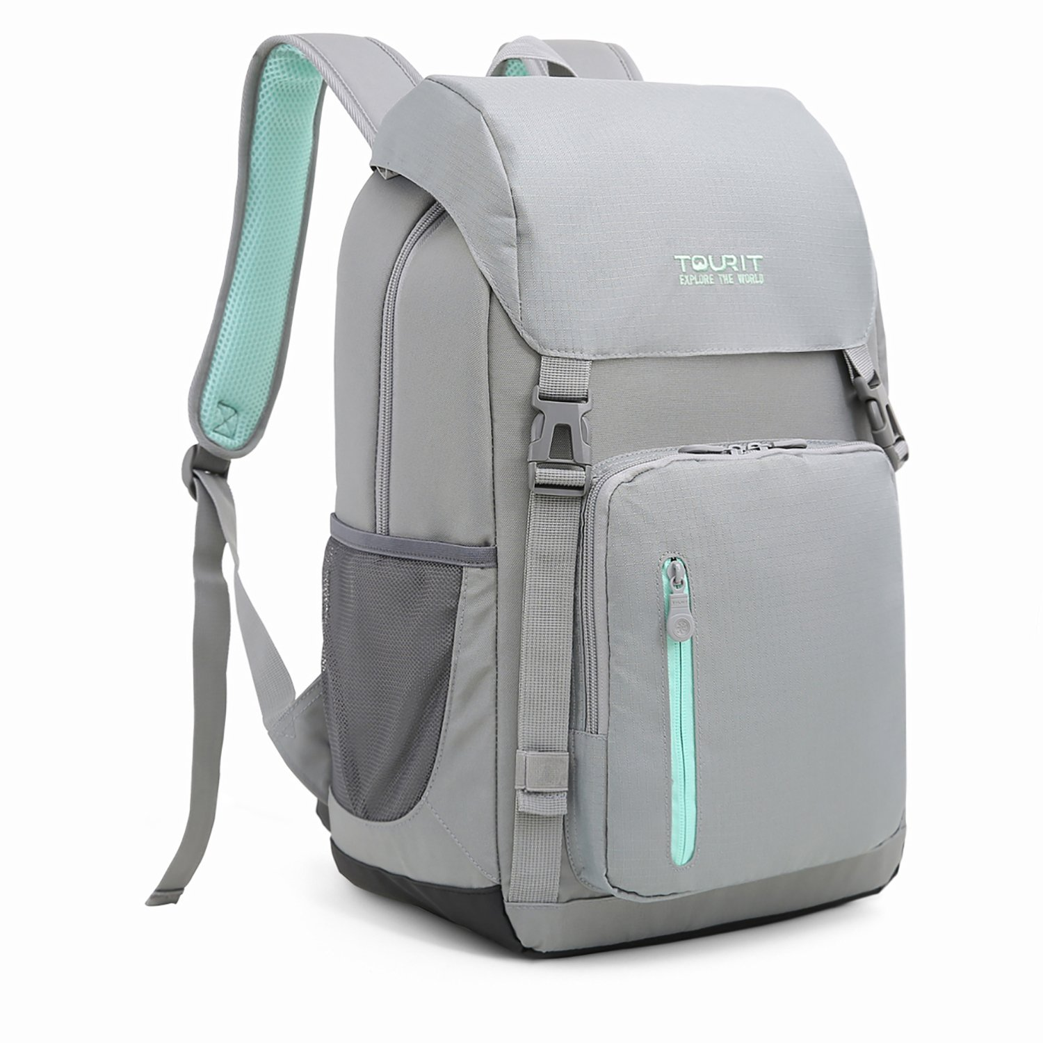 TOURIT Insulated Cooler Backpack Bag Picnic Back Packs Cooler Stylish Lightweight Backpack with Cooler Large Capacity for Men Women to Hiking, Travel, Camping