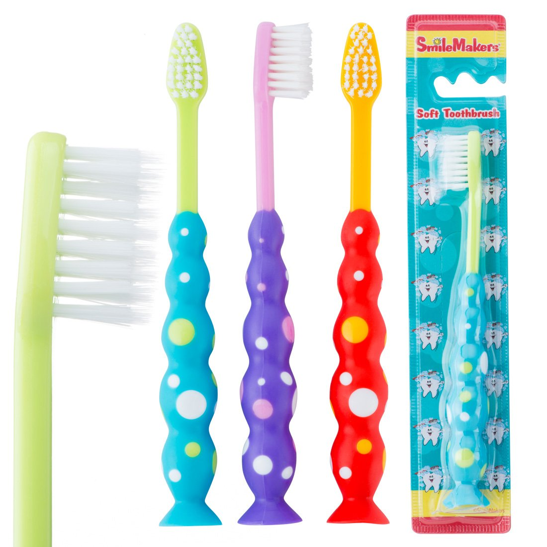 SmileCare Toddler Ultrafine Toothbrushes - Dental Hygiene Products - 48 per Pack by SmileMakers