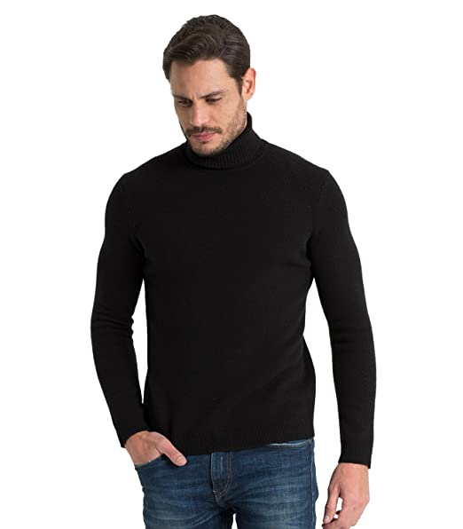 463175d2f Woolovers Mens Lambswool Polo Neck Knitted Jumper: Amazon.co.uk: Clothing